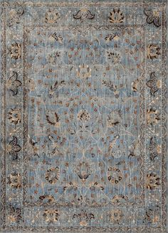 Kivi KV-06 Lt. Blue Clay Area Rug - Magnolia Home by Joanna Gaines…