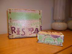 .: Cajas decoradas con cierre imantado