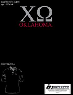 Oklahoma Chi Omega game day polo #chio #tshirt #greek #dad #polo #sorority