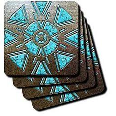 American Pride Native Art Tile Coasters Spiritual Coaster Set Gifts Home Decor Design Presents Decoration Riding Habit