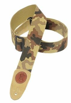 """Levy's Leathers 2 Cotton Guitar Strap,Desert Camouflage by Levy's Leathers. $15.66. 2"""" Signature Series cotton guitar strap with suede ends and tri-glide adjustment. Adjustable to 54"""". Also available in extra long (XL), which adds 12"""" to overall length."""