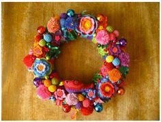 The Wreath Blog: Crocheted Christmas Wreath at Attic 24