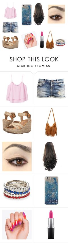 """""""Untitled #1"""" by sanyarao ❤ liked on Polyvore featuring MANGO, Blowfish, Red Camel and MAC Cosmetics"""