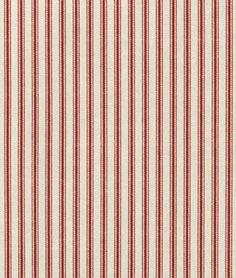 Waverly Timeless Ticking - Crimson Fabric - $13 | onlinefabricstore.net - Curtain Panel?