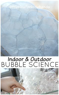 Freezing Bubbles Activity Indoor Outdoor Bubble Play