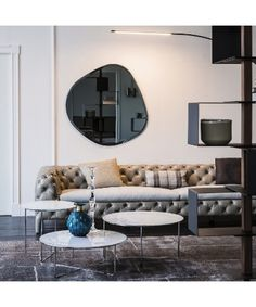 Cattelan Italia Hawaii Mirror from Lime Modern Living. Find a range of contemporary furniture from top brands including Calligaris Creative Decor, Beveled Edge Mirror, Italia Design, Interior Design Business, Wall Mounted Mirror, Wall Mirror, Led Licht, Led Lampe, Contemporary Furniture