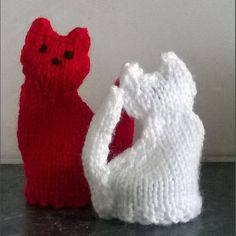 Innocent Smoothies Big Knit Hat Patterns Cat