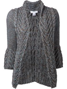 Shop Nellie Partow cable knit open cardigan in Chalk from the world's best independent boutiques at farfetch.com. Over 1500 brands from 300 boutiques in one website.