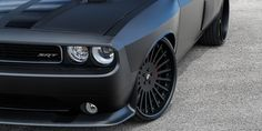 Forgiato Disegno on the Dodge Challenger in custom Matte Gray Chrome Wrap