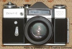 Russian and Soviet cameras: Zenit-E. Over 12 million produced, and later units actually used the Pentax 'K' mount.
