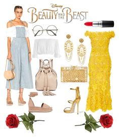 """Modernized Belle #BeautyandtheBeast"" by mcgeecm15 ❤ liked on Polyvore featuring Disney, Naeem Khan, Ulla Johnson, Sans Souci, Chloé, Rebecca Minkoff, Giuseppe Zanotti, Charlotte Olympia, Dolce&Gabbana and MAC Cosmetics"