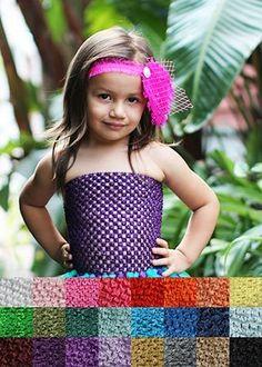 "The Hair Bow Company - Individual Crochet 8"" Tutu Top, $1.19 (http://www.thehairbowcompany.com/individual-crochet-8-tutu-top/)"