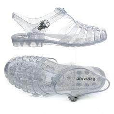 Amira03 Fisherman Jelly Caged Glitter Ankle Strap Flat Sandal Amira03 Fisherman…
