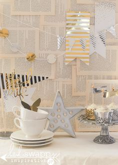 Photo Backdrop Old Book Page « pretty little minc party « Heidi Swapp