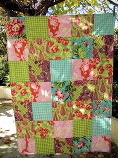 teal bliss bouquet by sewfunbymonique, via Flickr--- great fabric!