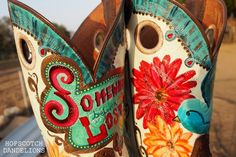 Custom Painted Cowboy Boots by Hopscotch Dandelions