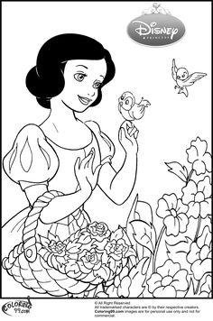 Disney Princess Snow White Coloring Pages | Team colors