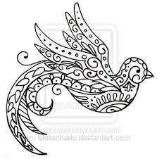 paisley bird design