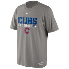 02cc8817bea01 Chicago Cubs Grey AC Dri-Fit Legend Team Issue Tee by Nike