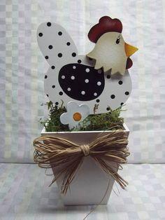 Vaso galinha em mdf | Artesanatos Ingrid Carvalho | 17010A - Elo7