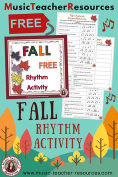 Are you looking for FREE music activities? This match the phrases to the rhythm FREE DOWNLOAD is perfect for rhythm lessons for your music students. This free music lesson is perfect for rhythm reinforcement and vocabulary development - worth adding to your music lesson plans. #mtrFall #mtrFree #mtrPuzzles #mtrGames