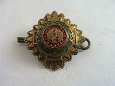 "Vintage British Order of the Bath ""Tria Juncta in Uno"" Metal (BRASS) Buttons (2) #vintage #brass"
