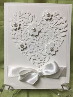 Stamp with Anna: Monthly Inspiration Sheet - Wedding Cards, Stampin Up, Bloomin Hearts, Wedding, Elegant