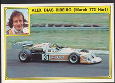 Panini Super Auto 1977 Sticker - No 31 - Alex Dias Ribeiro, March 772 Hart | eBay