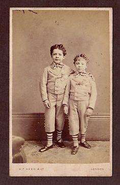 CDV Acrobats Sillo Elspa Child Circus Trapeze Artists Victorian London 1870s | eBay