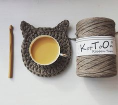 I KotToOn Ribbon Yarn www.knitpl.com miłego dnia #KotToOn #ribbonyarn #ribbonxl #tshirtyarn #rękodzieło #recznierobione #trapillo #tyarn #fiodemalha #zpagetti #ribbonip #ribbones #szydełko #crochet #szydełkowanie #szydelko #sznurekbawełniany #sznurek #włóczka #robótkiręczne #knitpl #szydelkowanie #crmd #crochetxxl #kawa #coffee #filiżanka #podkładka #kot #sobotakota