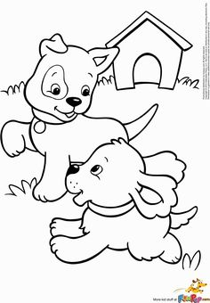 All children love puppies Print out this colouring in page for