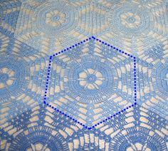 Advanced Embroidery Designs. FSL Crochet Swirl Doily.