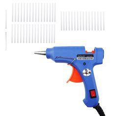 XL-E20 High Temp Heater Melt Hot Glue Gun 20W Hand with 50 Glue Sticks Graft Repair Tool Heat Gun