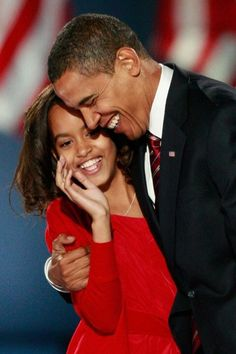 President Barack Obama and daughter Malia                              …