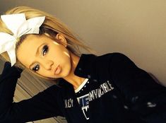 Competition Hair - No poof cheer hair Cheer Coaches, Cheer Stunts, Cheer Dance, Cheer Mom, Cheerleading Hair, Cheer Hair Bows, Cheer Ponytail, Cheerleading Accessories, Fairy Makeup