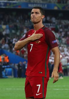 #EURO2016 Cristiano Ronaldo of Portugal celebrates his team's win after the UEFA EURO 2016 quarter final match between Poland and Portugal at Stade Velodrome...