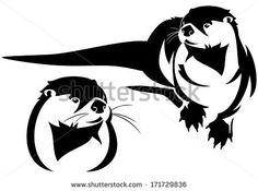 otter symbol | Sea Otter clip art free vector