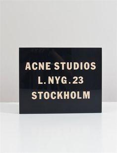 Acne Vanessa Logo - Midnight Blue