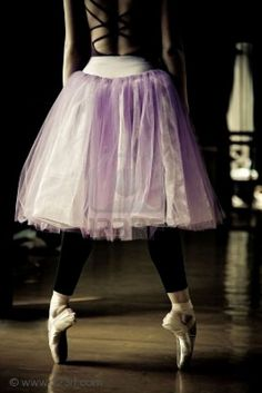black tights & purple tutu