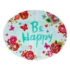 """Celebrate Summer Together """"Be Happy"""" Melamine Serving Platter"""