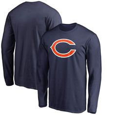 Chicago Bears Pro Line by Fanatics Branded Big & Tall Primary Logo Long Sleeve T-Shirt - Navy - $27.99