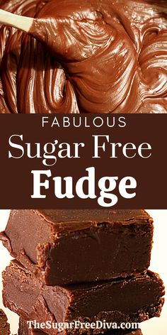 Sugar Free Fudge, Sugar Free Deserts, Sugar Free Baking, Sugar Free Sweets, Sugar Free Candy, Sugar Free Cookies, Low Carb Sweets, Healthy Sweets, Low Carb Desserts