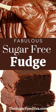 Sugar Free Fudge, Sugar Free Deserts, Sugar Free Baking, Sugar Free Sweets, Sugar Free Candy, Sugar Free Cookies, Low Carb Sweets, Sugar Cookies Recipe, Low Carb Desserts