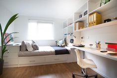 Contemporary design & homely interiors for studying in comfort