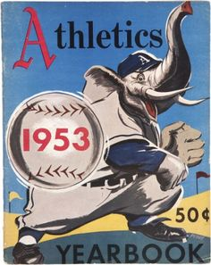 1953 Philadelphia A's baseball yearbook. In good condition with some wear and staining, age toning as pictured. Baseball Signs, Baseball Art, Sports Baseball, Sports Art, Baseball Posters, Sports Posters, Sports Logos, Philadelphia Athletics, Philadelphia Sports