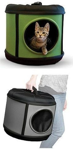 A bed, playhouse and carrier in one makes the Mod Capsule an economical must. It zips together for easy assembly. The mesh door is completely removable for use as a sleeper. Zip the door back on for u