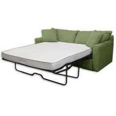 This reversible foam sleep sofa bed mattress is made of 4-inch high-density foam covered in stretch knit ticking. Both sides of this lightweight reversible foam sofa sleeper mattress can be used.