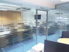 Double Glazed Acoustic Glass Partitioning including framed door with over panel Sutton Coldfield, Glass Partition, West Midlands, Acoustic, Small Spaces, Train, Home Decor, Decoration Home, Room Decor