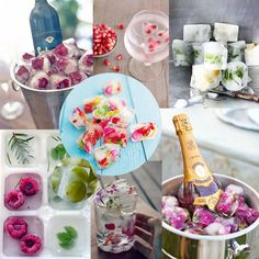 flowered ice cubes and other pretty things