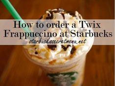 Try the Twix Frappuccino, a Starbucks Secret Menu Favourite! Recipe here: http://starbuckssecretmenu.net/starbucks-secret-menu-caramel-cookie-bar-frappuccino/: